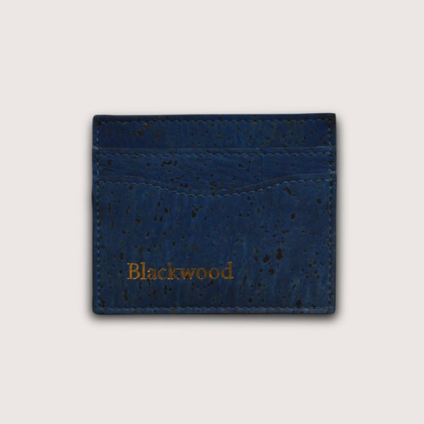 Blue cork leather card holder - Blackwood