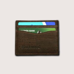 Designer card holder in cork leather
