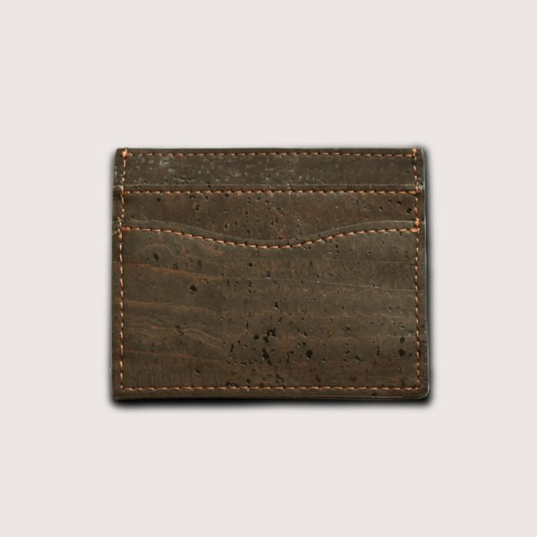 Vegan card holder in cork leather