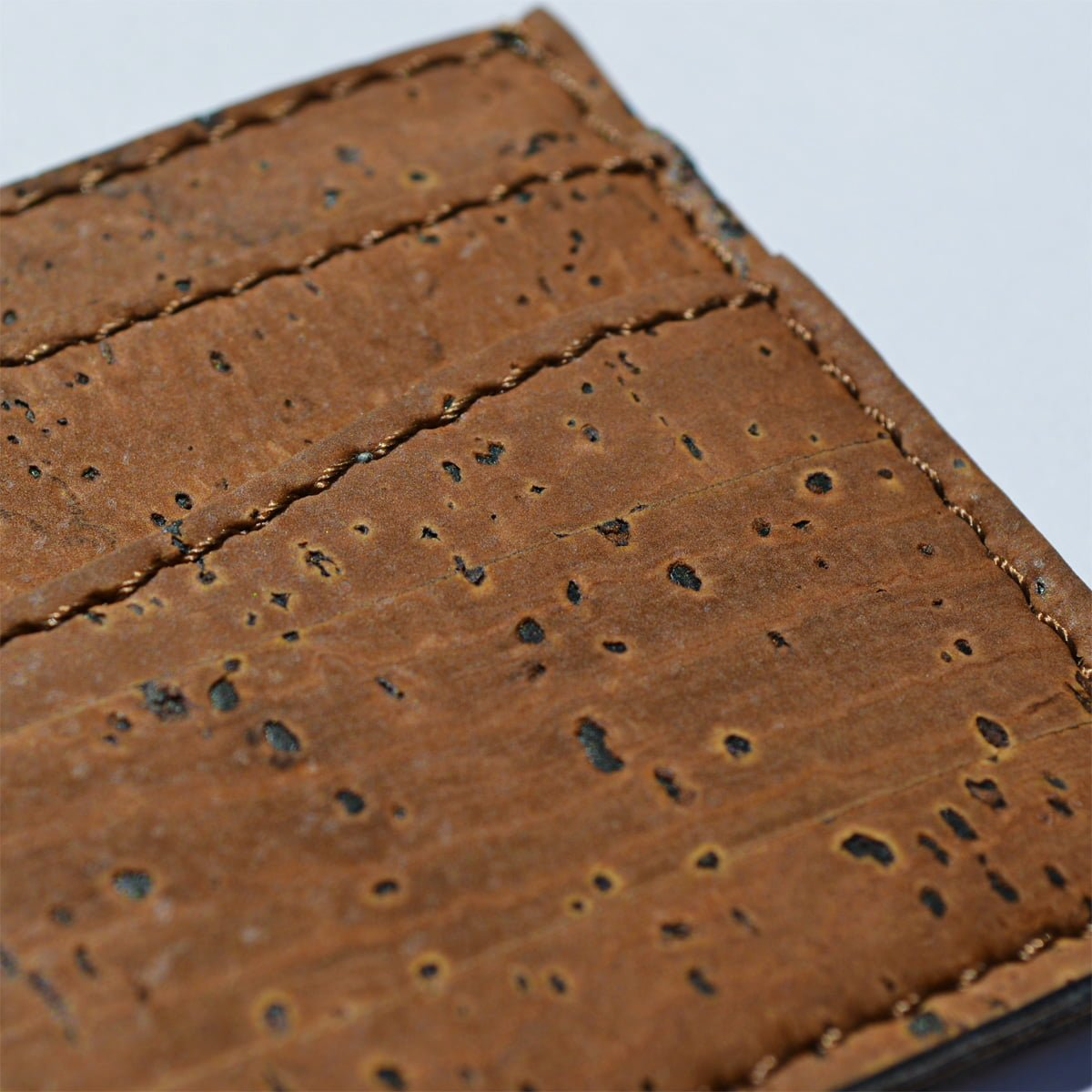 The zoom in on the cork leather - the best vegan leather.