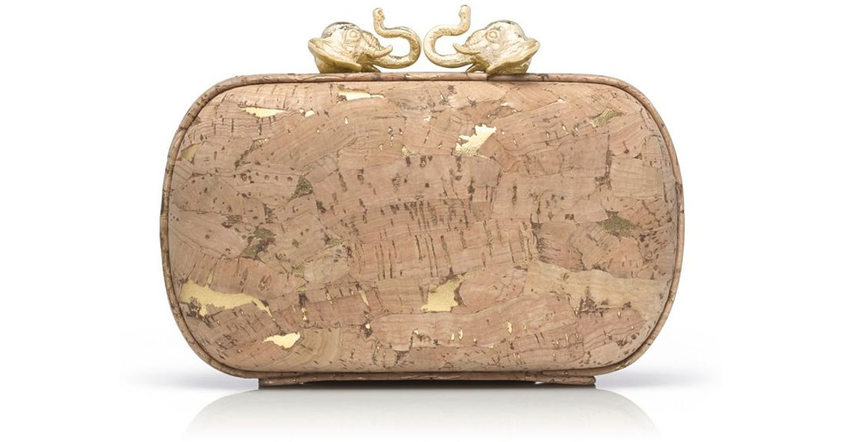 Luxury Cork Leather Clutch by Tory Burch