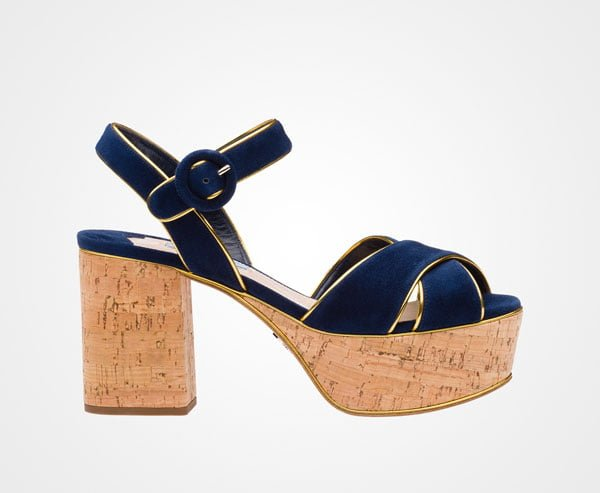 Luxury Cork Leather shoes by Prada