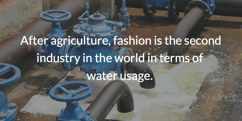 Statistics about the water usage in fashion industry.