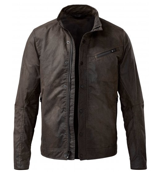 Jacket from Qorkit made from waxed cotton - vegetarian leather.