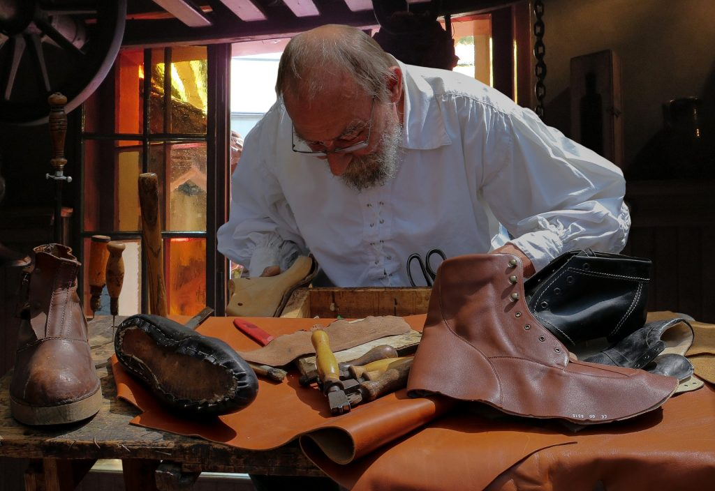 local shoemaker working - sustainable fashion