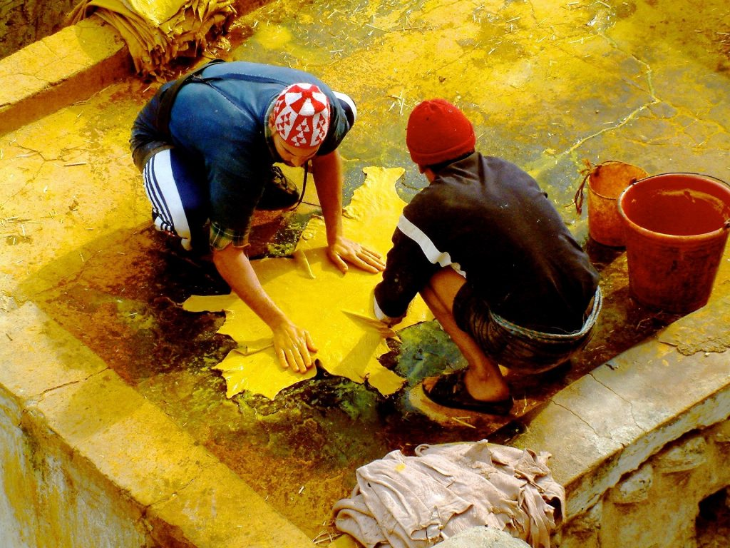 leather tannery workers