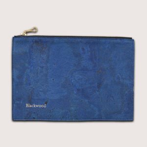 Vegan pouch bag blue