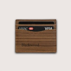 Minimalist card holder in Wood Leather