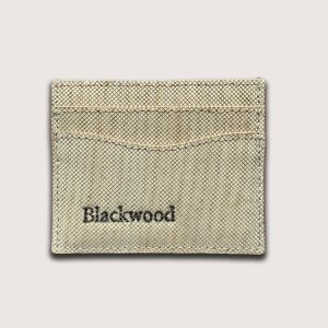 Wood leather card holder